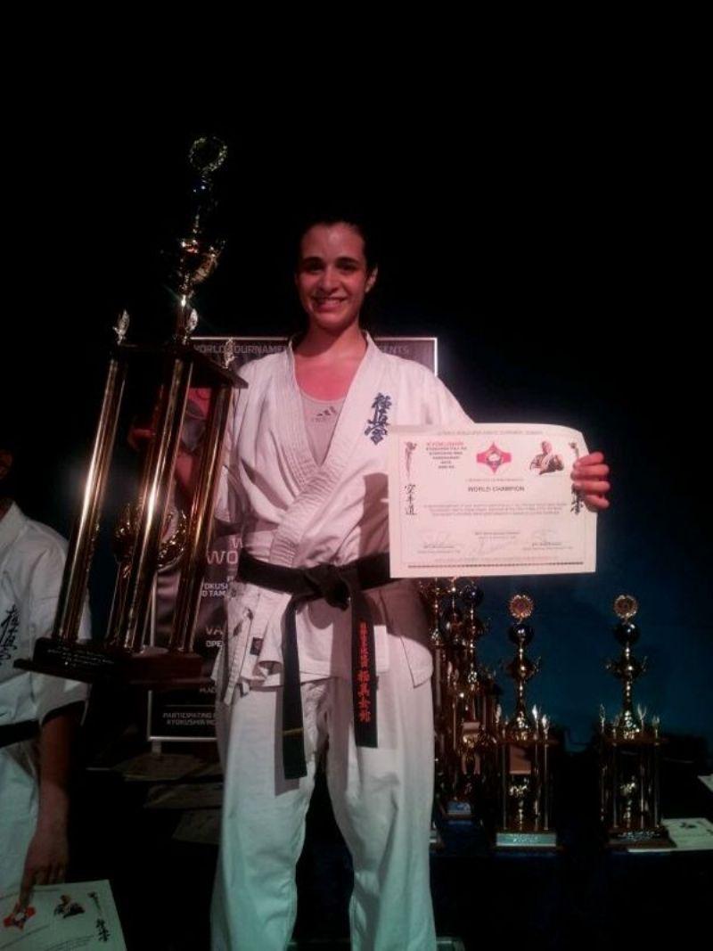 Beatriz Prades, campeona de la Copa del Mundo de Kyokushin celebrada en Dinamarca