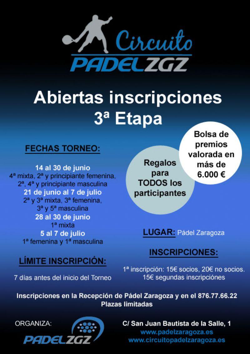 El viernes finalizan las inscripciones para el «Torneo Colegio La Salle Santo Ángel» de Pádel Zaragoza