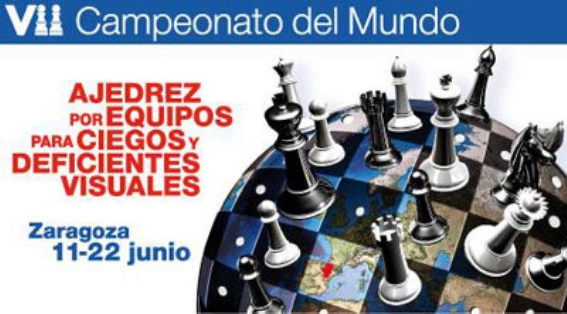 Zaragoza, sede del VII Campeonato del Mundo de Ajedrez por Equipos para Ciegos