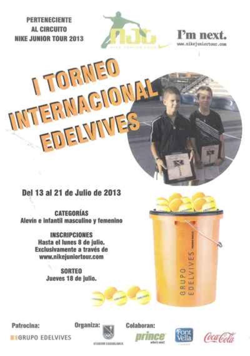 El Torneo Internacional «Edelvives» de Tenis Junior se disputará en Stadium Casablanca del 13 al 21 de julio
