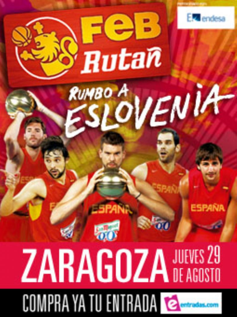 La Ruta Ñ 2013 de la Selección de baloncesto llega a Zaragoza