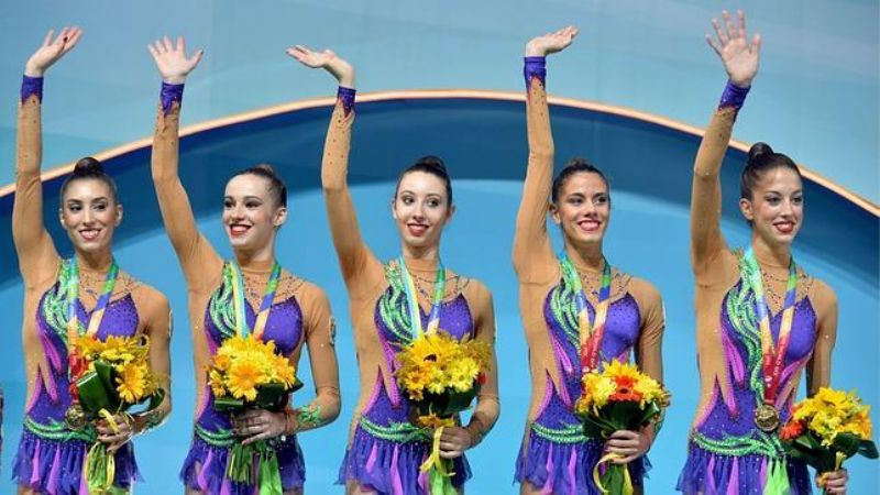 Oro para España en Mazas en el Mundial de Gimnasia Rítmica
