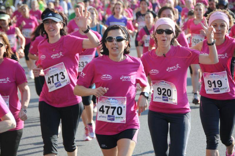 Entrenamientos para la Carrera de la Mujer del domingo