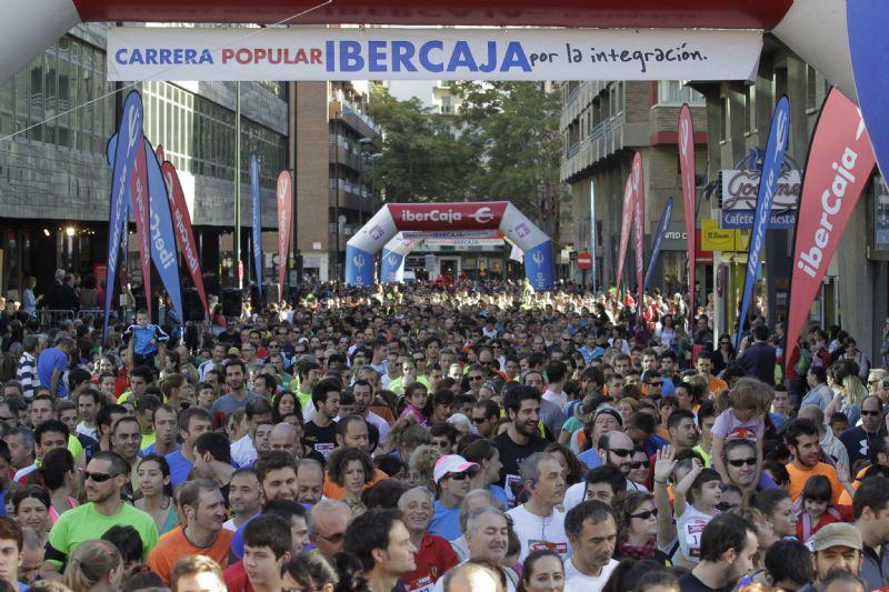 Más de 11.000 corredores en la Carrera Ibercaja «Por la integración»