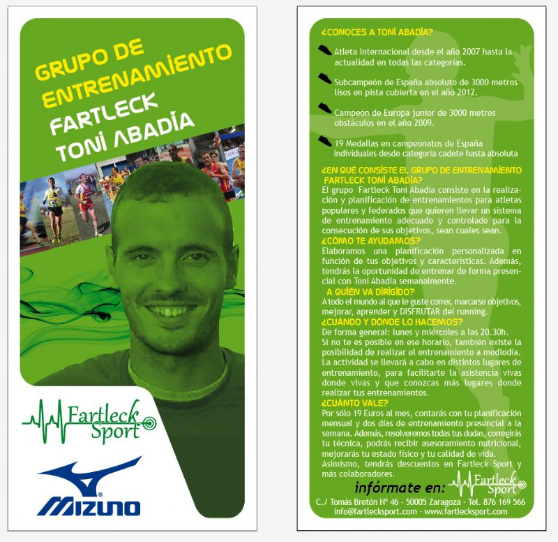 Grupo de entrenamiento Fartleck Sport - Toni Abadía