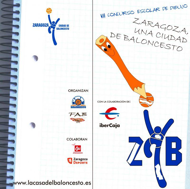 VII Concurso Escolar de Dibujo «Zaragoza, una ciudad de Baloncesto»