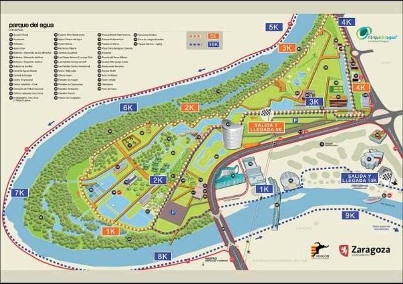 El Parque del Agua estrena dos circuitos «oficiales» de 5k y 10k
