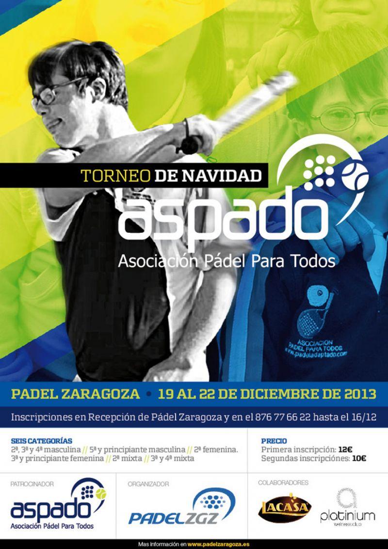 Pádel Zaragoza da la bienvenida a la Navidad con el Torneo ASPADO