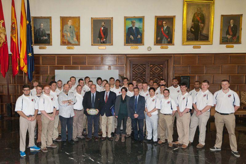 Recepción a los integrantes del equipo Syracuse University Rugby New York