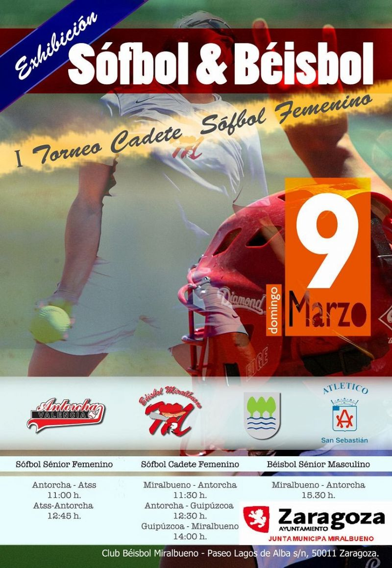 I Torneo de Sófbol femenino de Zaragoza
