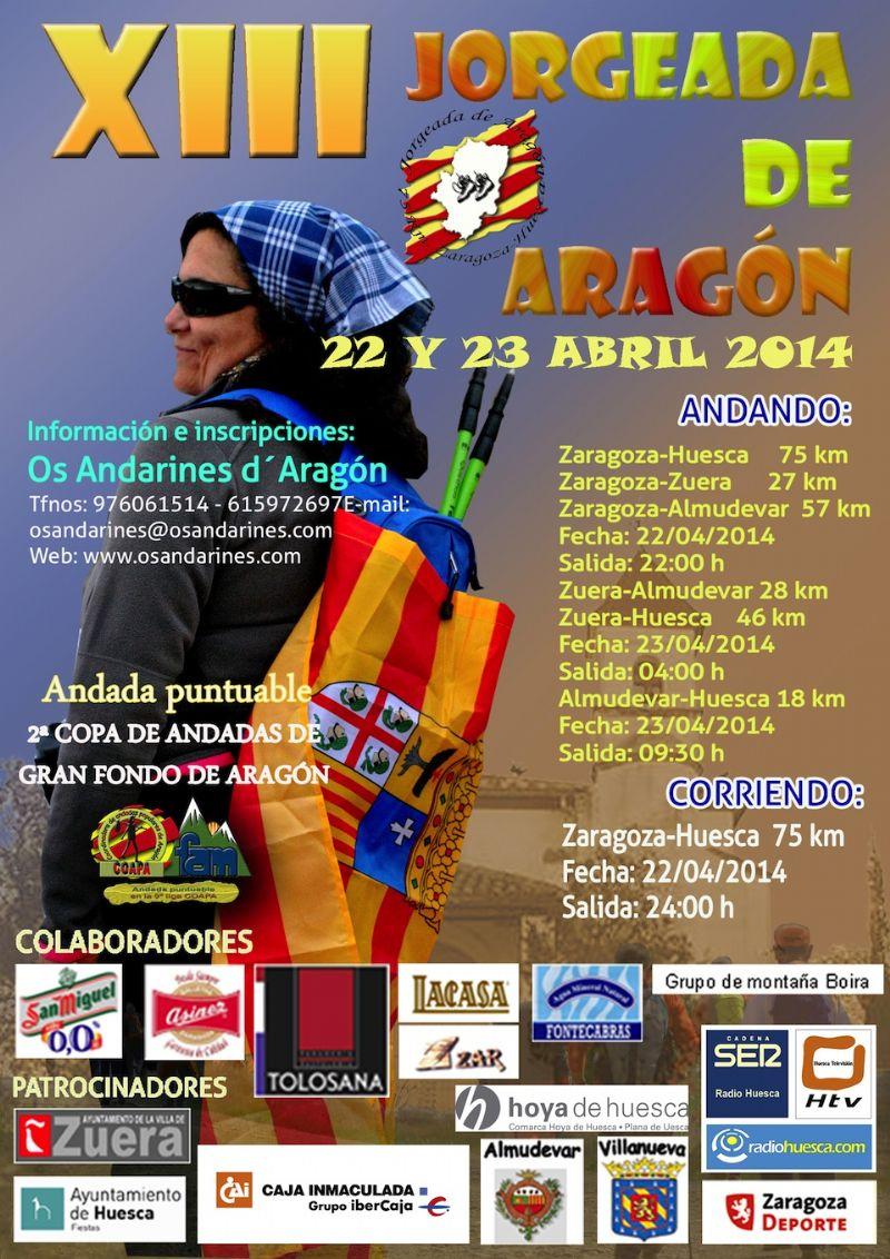 Abierto el plazo de inscripción de la XIII Jorgeada de Aragón 2014