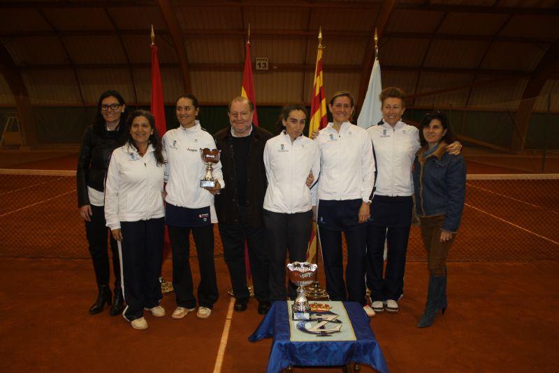 El equipo femenino del RZCT se proclamó subcampeón de España de Tenis en categoría +35