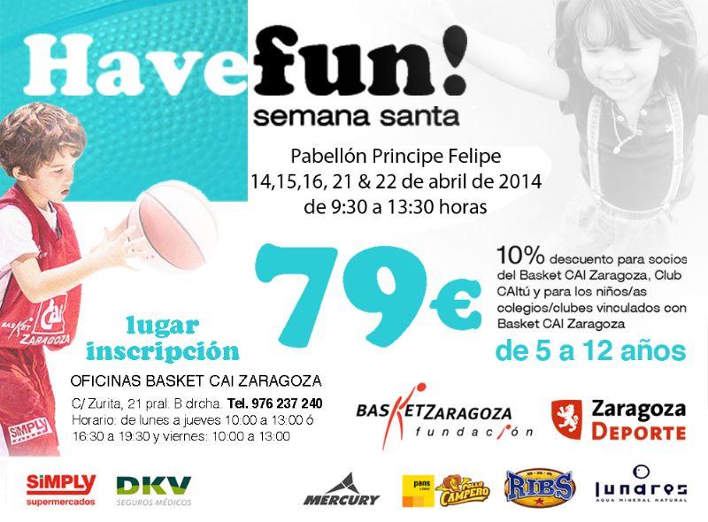 Esta Semana Santa... «Have fun!» con el CAI Zaragoza