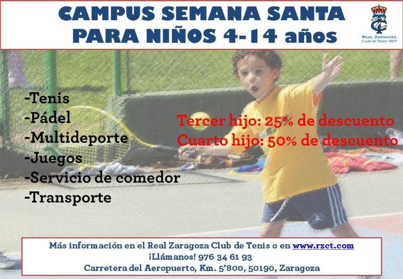 Campus de Semana Santa en el Real Zaragoza Club de Tenis