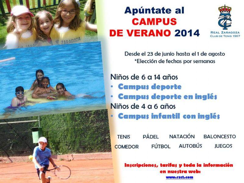Campus de Verano 2014 del Real Zaragoza Club de Tenis