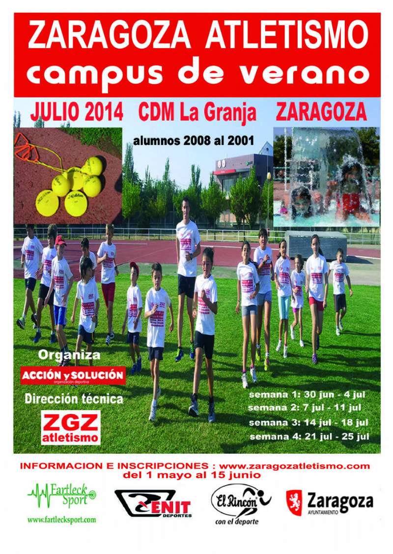 Campus de Verano de Zaragoza Atletismo en el CDM La Granja
