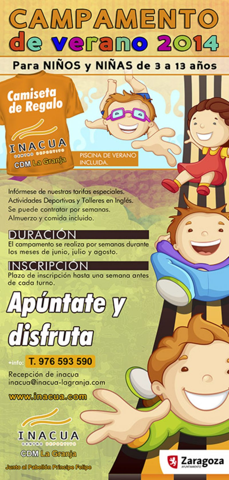 Campus de verano INACUA en el CDM La Granja