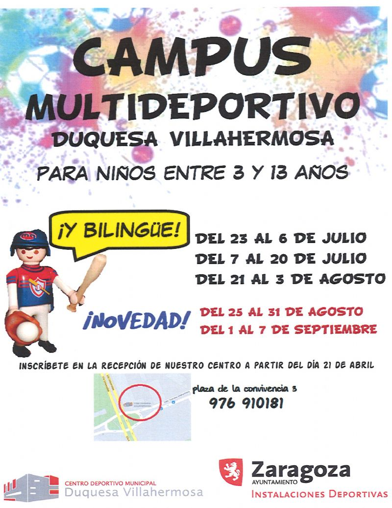 Campus de Verano en el C. D. M. Duquesa Villahermosa