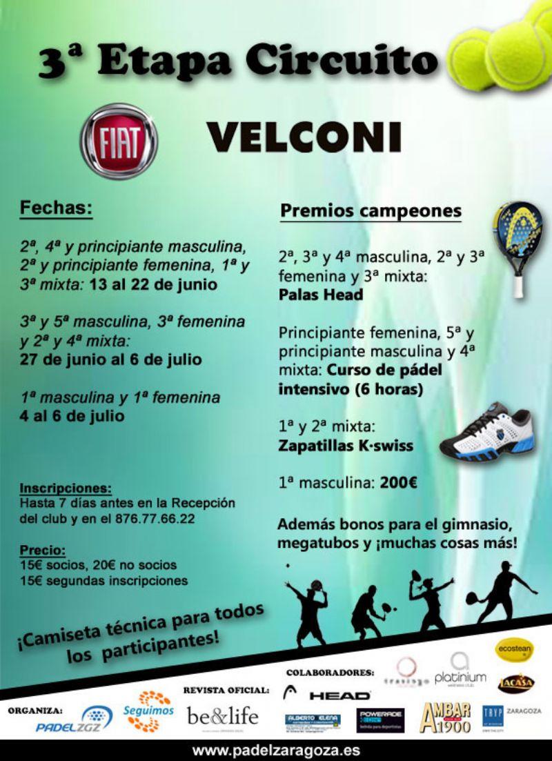 Arranca la cuenta atrás para la 3ª Etapa del Circuito Fiat Velconi