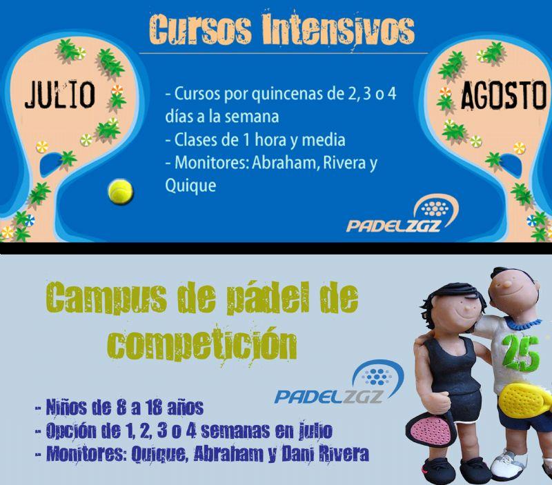 Cursos Intensivos y Campus de Verano 2014 en Pádel Zaragoza