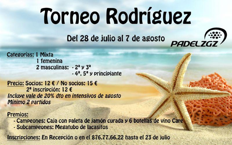 Inscripciones abiertas para el Torneo Rodríguez de Pádel Zaragoza