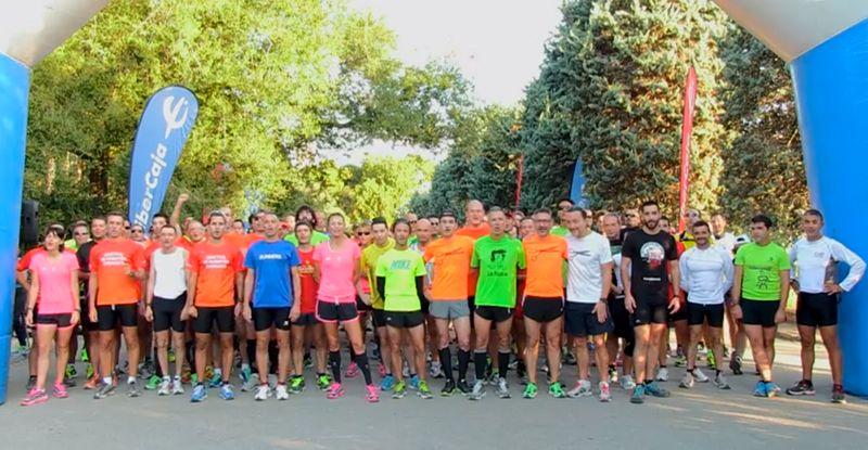 Entrenamiento colectivo y presentación de liebres del Maratón de Zaragoza
