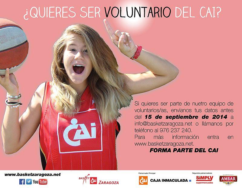 Únete a los Voluntarios del CAI Zaragoza