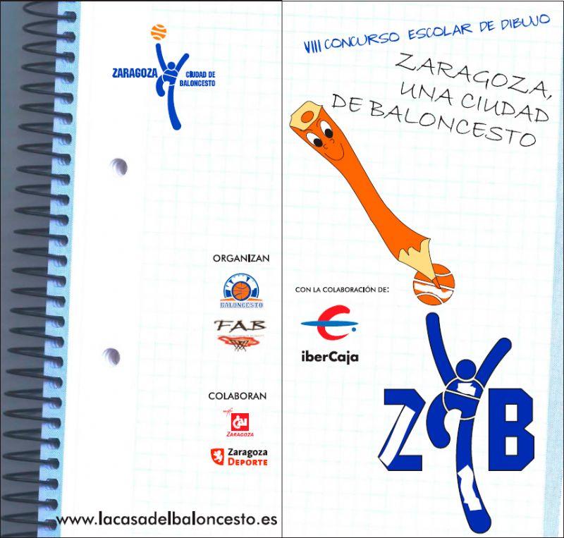 VIII Concurso Escolar de Dibujo «Zaragoza, una ciudad de Baloncesto»