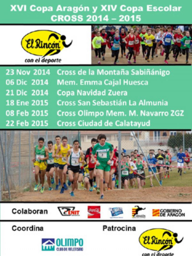 XVI Copa Aragón de Cross y XIV Copa Escolar de Cross «Gran Premio El Rincón con el Deporte»