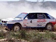 Los zaragozanos Domínguez y Soriano logran el triunfo en la segunda prueba del regional de rallys disputado en La Zaida.