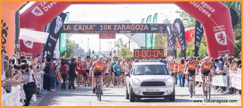 La salida de la CaixaBank 10k Zaragoza se realizará por oleadas
