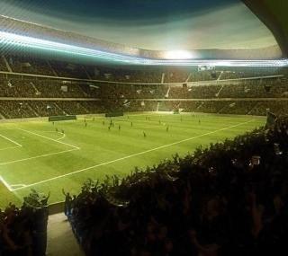 Belloch ofrece el nuevo campo como sede del Mundial 2018.