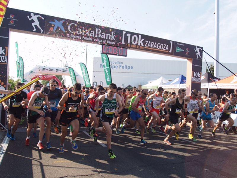Joaquín Salvador y Luisa Larraga, vencedores de una «CaixaBank 10K Zaragoza» de récord