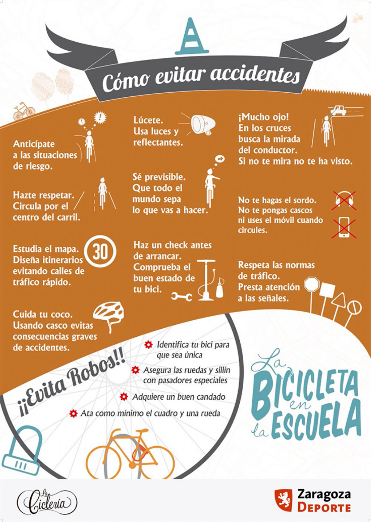 Decálogo para evitar accidentes de bicicleta en la ciudad