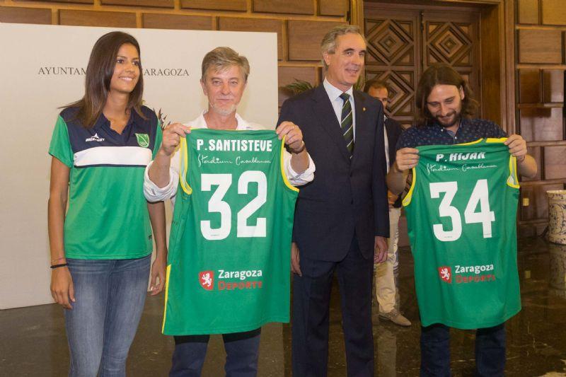 El alcalde recibe al Mann Filter Zaragoza