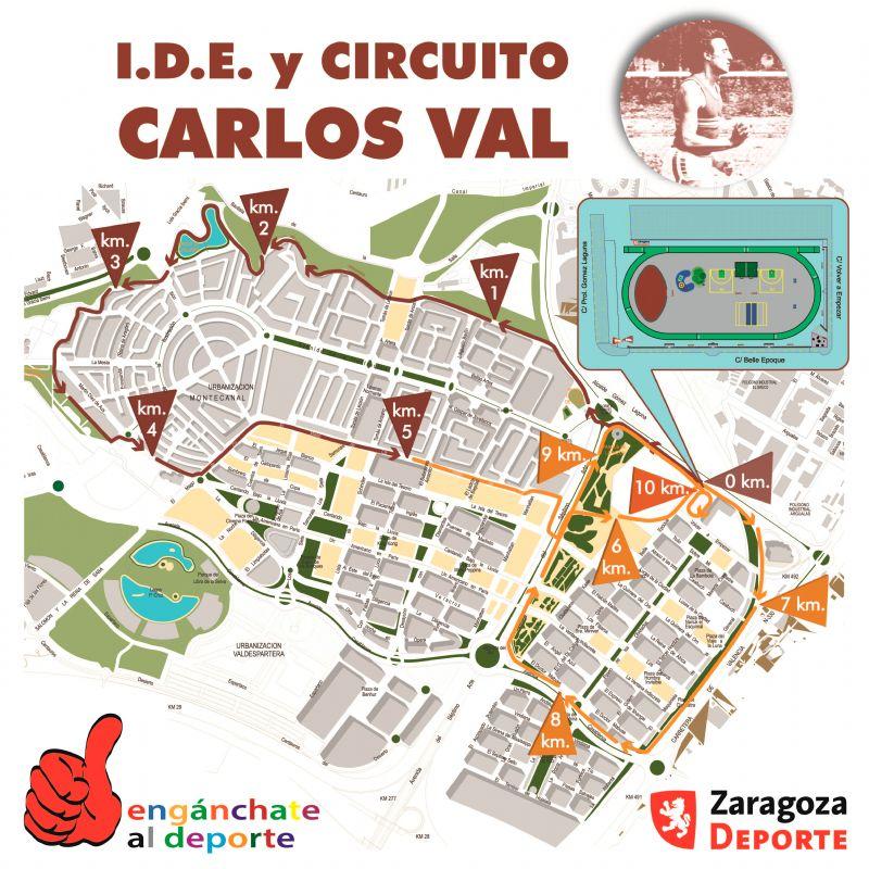 Nuevo circuito de «running» de 5k y 10k en la IDE Carlos Val (Valdespartera)