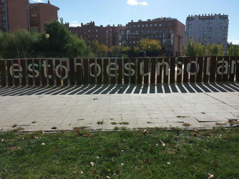 Reparación del vallado en la IDE de Deportes Tradicionales «Jesús Gracia Mallén»