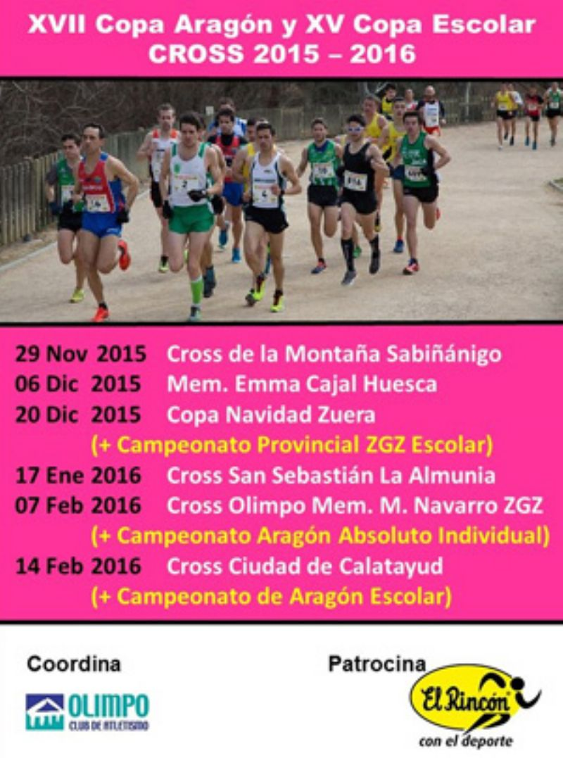 XVII Copa Aragón de Cross y XV Copa Escolar de Cross «Gran Premio El Rincón con el Deporte»