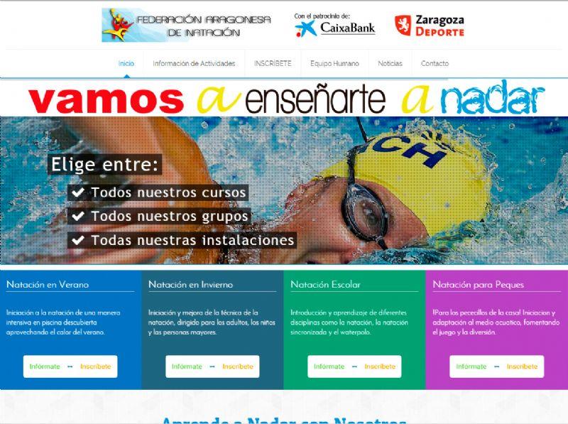 Nueva Web para los cursos municipales de natación