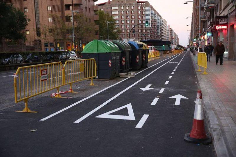 Apertura íntegra del nuevo carril bici de Tenor Fleta y de su conexión con Camino de las Torres
