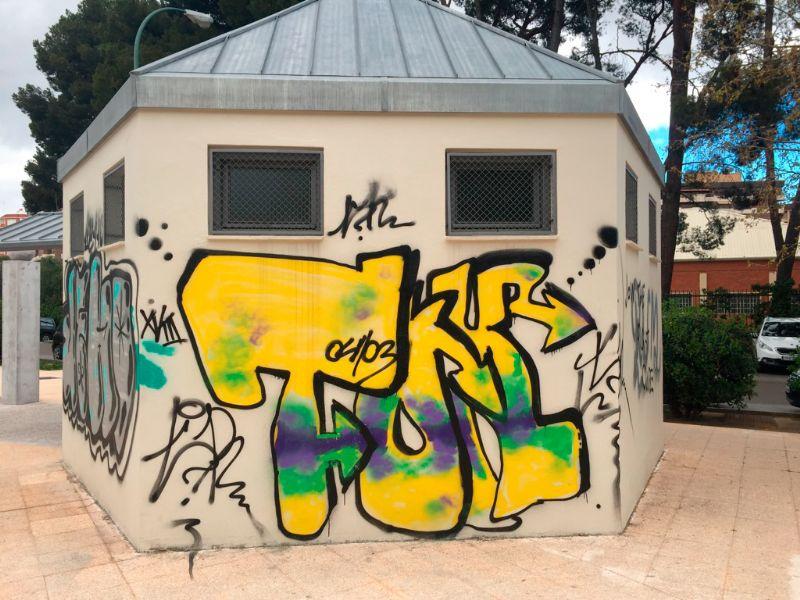 Concurso de grafiti para decorar el Quiosco de Deportes, situado frente al C. D. M. Salduba, en el Parque Grande «J. A. Labordeta»