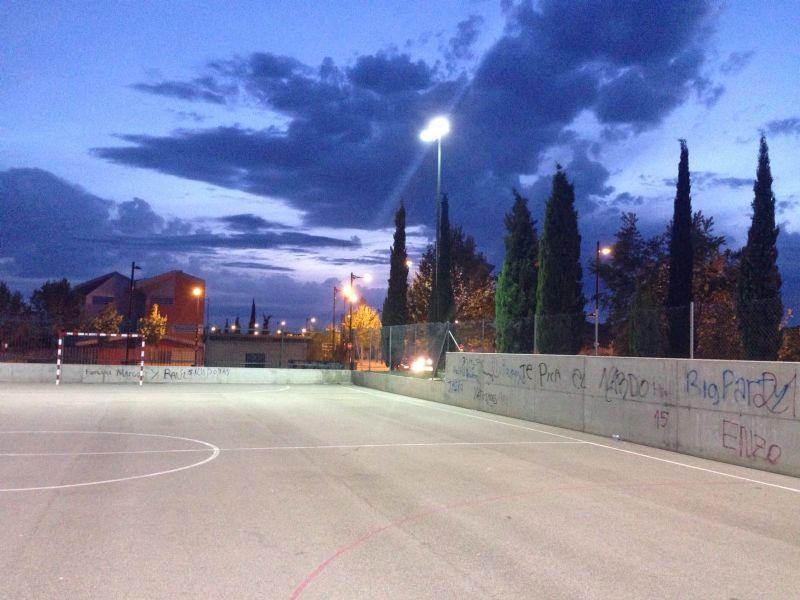 La IDE «Manuel Lahoz» del Parque Goya estrena nueva iluminación