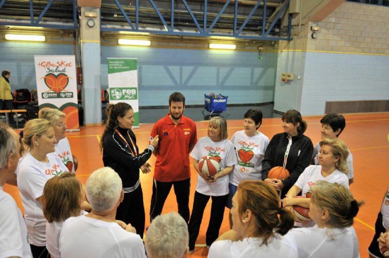 Isa Sánchez visitó a los integrantes del programa +Q BASKET