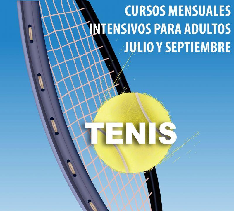 Cursos intensivos de tenis en julio y septiembre