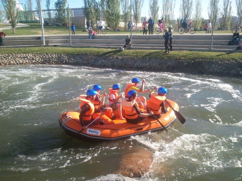 Practica deporte en el Parque del Agua