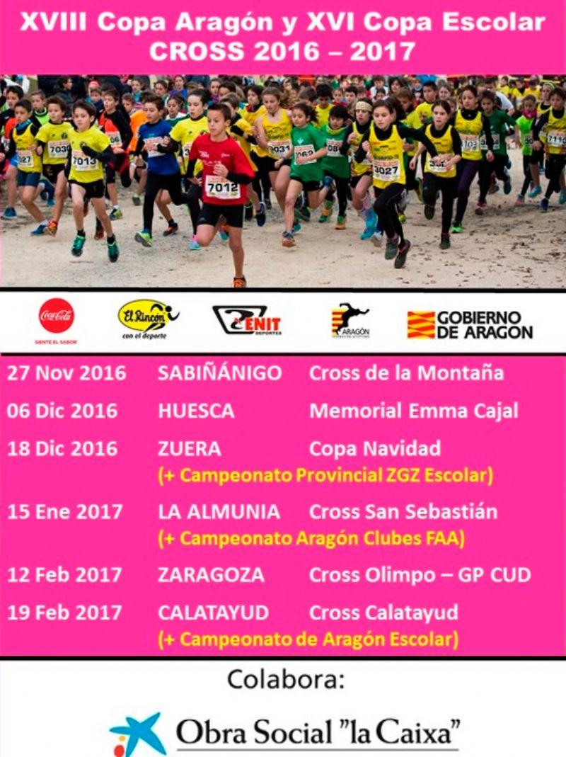 XVIII Copa Aragón de Cross y XVI Copa Escolar de Cross «Gran Premio CaixaBank»