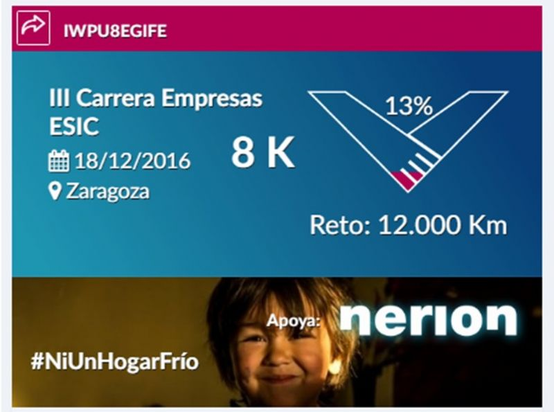 Suma gratuitamente tus km. de la Carrera de Empresas ESIC al Reto INGOA para luchar contra la pobreza energética en Aragón