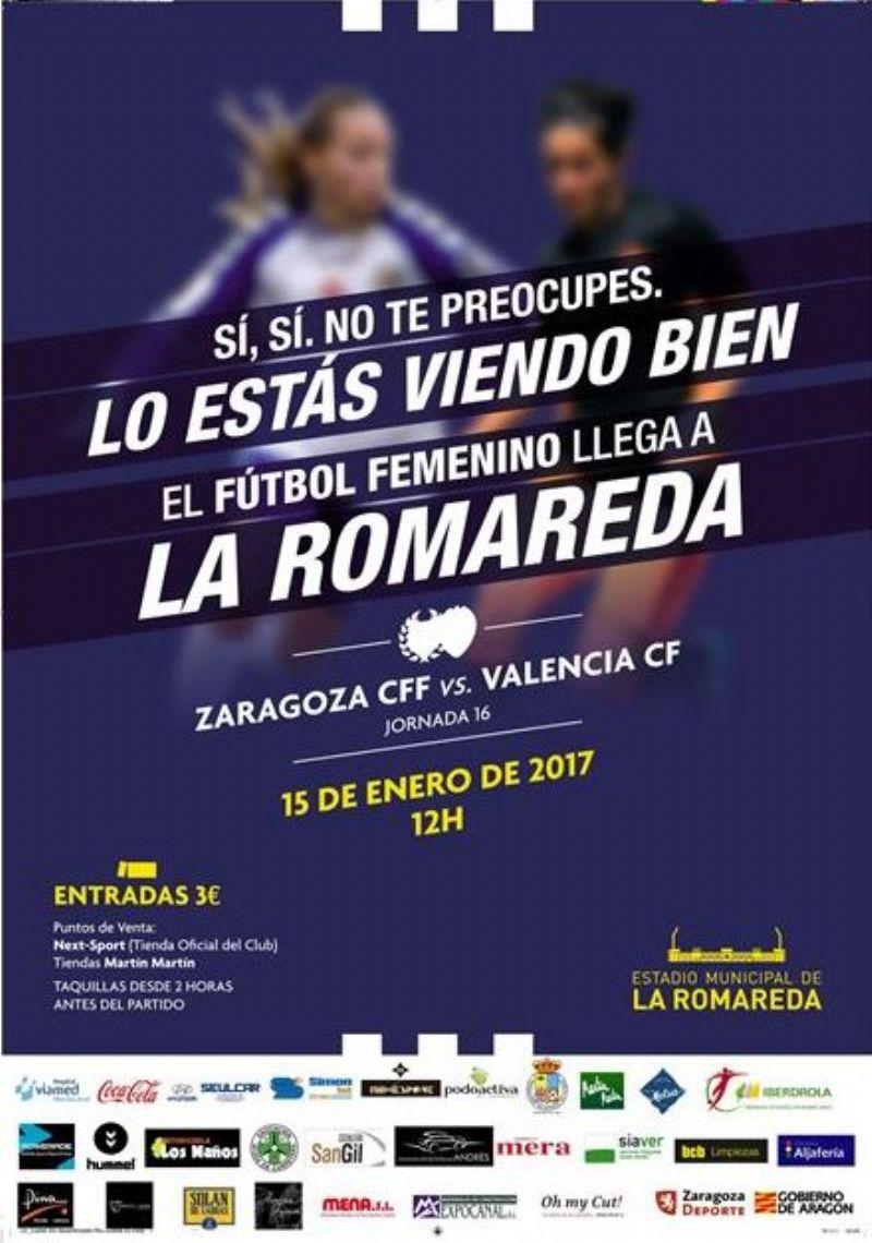El Zaragoza Club de Fútbol Femenino jugará por primera vez un partido de liga en La Romareda