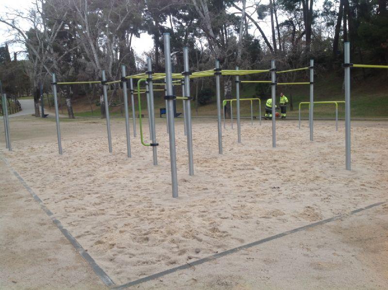 Nueva instalación para practicar «Street Workout» en el Parque Grande «J. A. Labordeta»