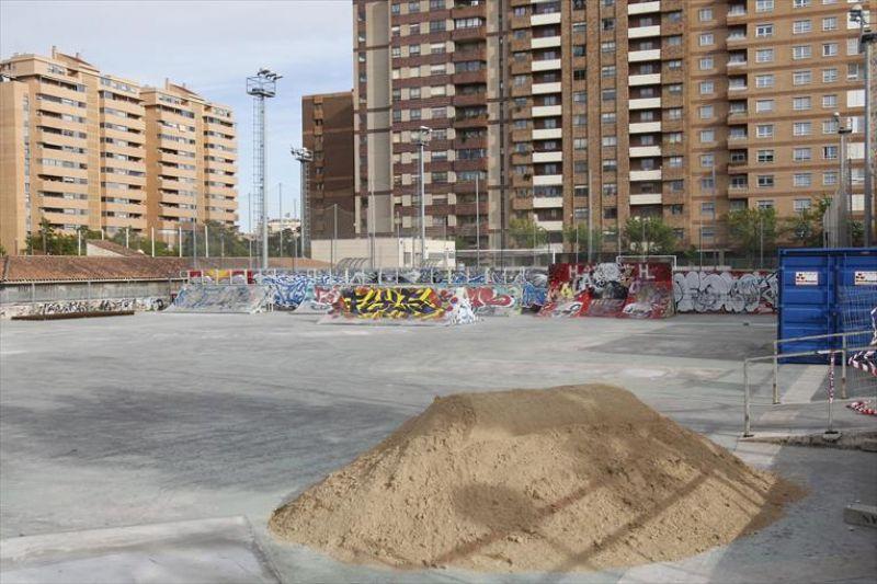 Comienzan las obras de remodelación del «Skate Park» de Vía Hispanidad